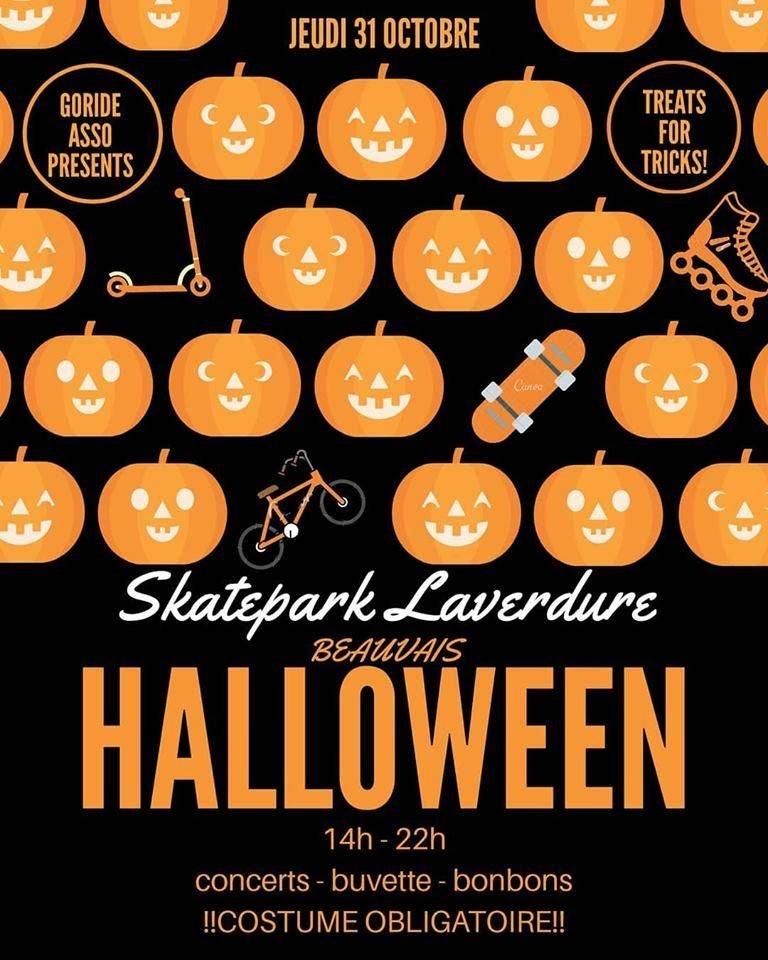 Halloween Skatepark Laverdure 2019