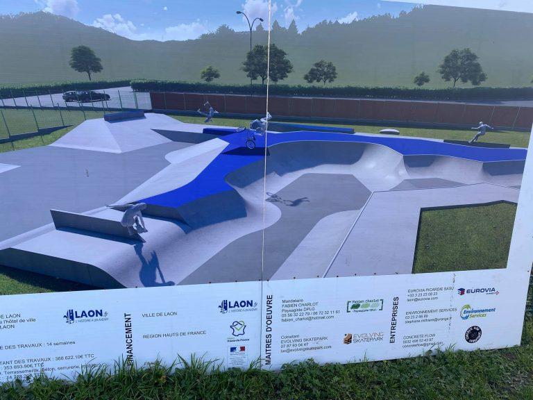 Maj. Construction du Skatepark de Laon janvier 2020