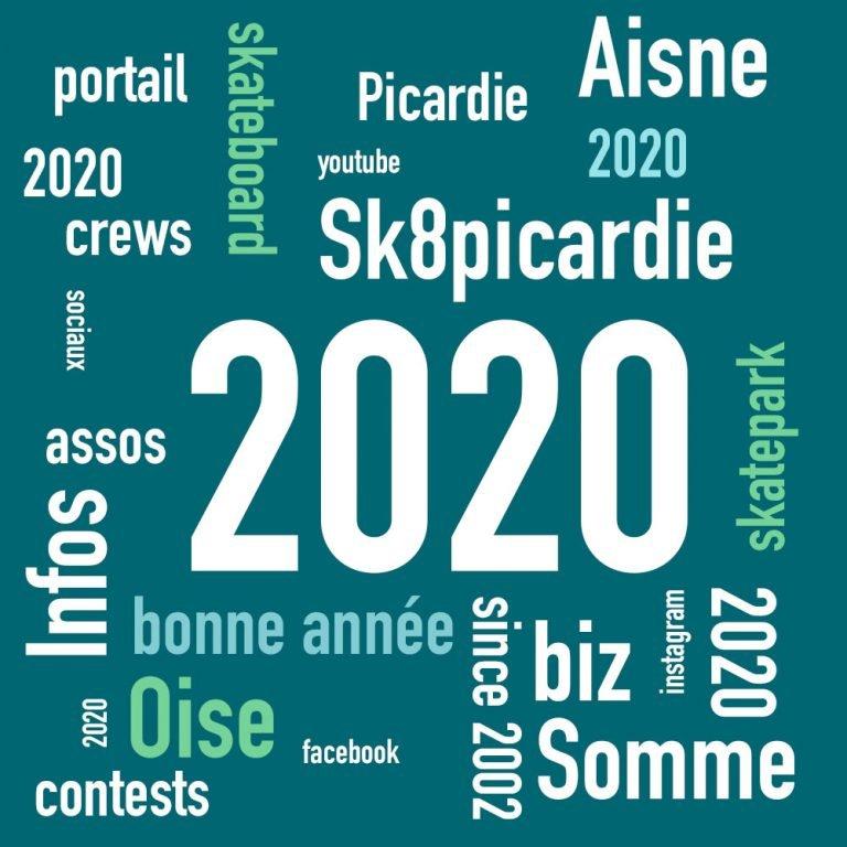 Meilleurs voeux 2020 au nom de sk8picardie le portail du skateboard Picard
